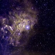 A false-color image of the star AE Aurigae Poste…