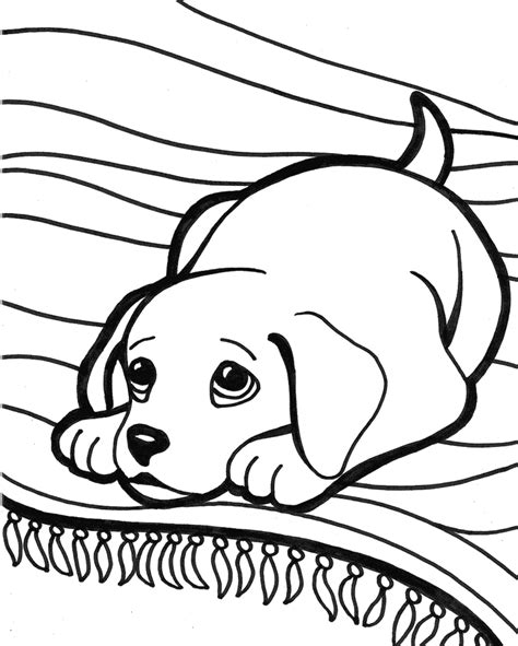 cute puppy coloring pages coloring home