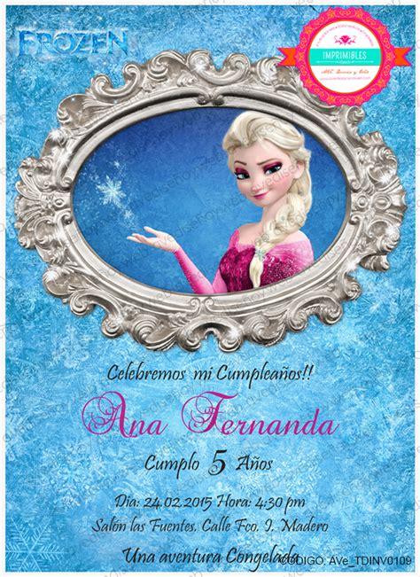 AVe Invitacion Imprimible Frozen Elsa by AVeImprimibles