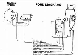 alternator voltage regulator wiring ford truck With ford charging system diagrams ford alternator regulator wiring diagram