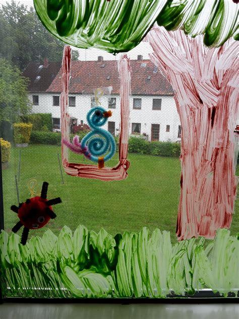 Herbst Fingerfarbe Fenster by Kinderzimmer Fenster Bemalen