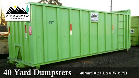 Roll  Container Dumpster Sizes Prices Chandler Az