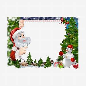 Christmas Border Santa Claus Grandfather Red PNG Image