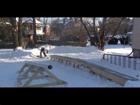 Backyard Snowboard Park Youtube