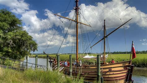 Boat Landing In Charleston Sc by The Adventure Ship At Charles Towne Landing State Historic