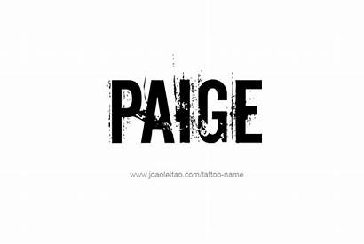 Paige Tattoo Designs Female
