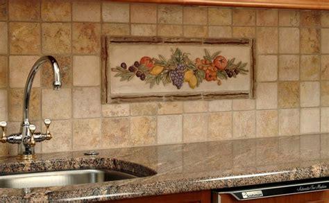 decorative backsplashes kitchens kitchen decorative mural backsplash mediterranean tile