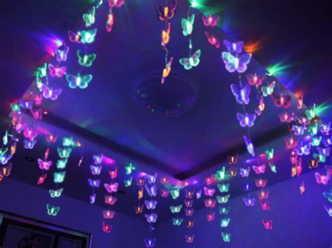 led christmas night lights 3x0 7m lovely butterfly net led string light l ceiling