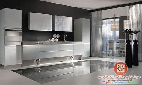 black and silver kitchen designs تصميمات مطابخ مذهلة ايطالية و دهانات خيالية في ديكور 7842