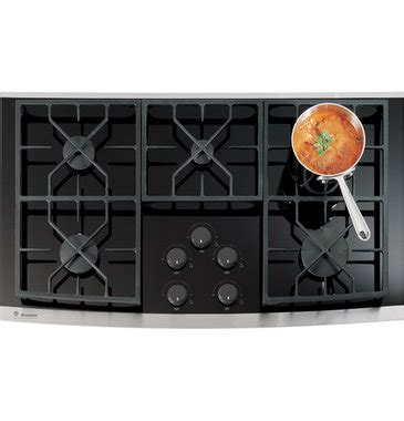 ge monogram zgukskss   monogram gas  glass cooktop  sealed cooktop burners natural