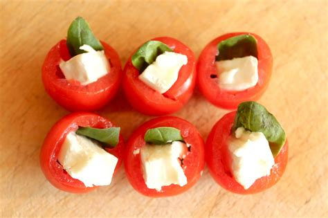 canapé simple easy canapes tomato basil and goats cheese