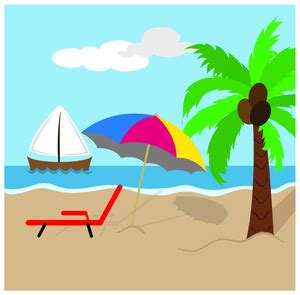 flip flop chairs clipart image tropical island with coconut
