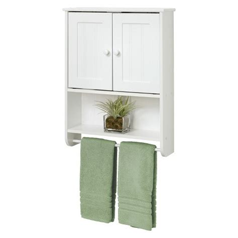 Target Bathroom Cabinets On Wall by Country Cottage Wall Cabinet White Wood Zenna Home Target