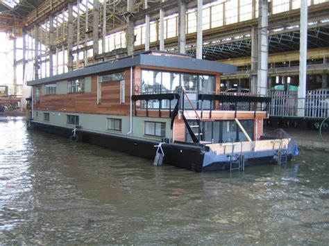 Houseboat Build by Houseboat Custom Designed By Dirkmarine Build On A
