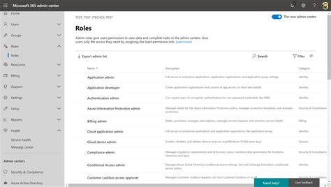 Office 365 Roles by New Admin Roles Section In The Office 365 Admin Center
