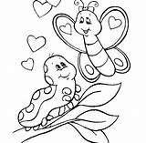 Caterpillar Coloring Butterfly Sheet Pages Meeting Sweet sketch template