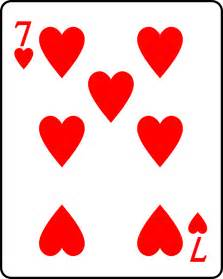 7 Hearts Playing Card