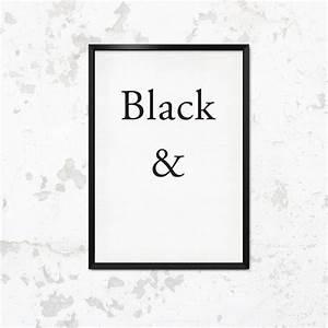 Schwarz Weiß Sprüche : typoposter schwarz wei typo print black white by this is it via ~ Orissabook.com Haus und Dekorationen