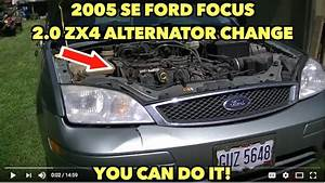 2005 Se Ford Focus 2 0 Zx4 Alternator Change   You Can