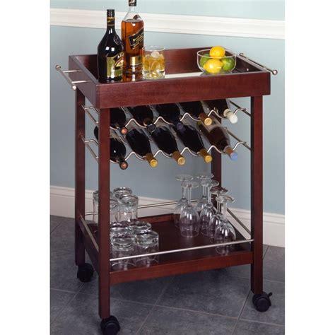 kitchen furniture canada winsome espresso 10 bottle wine cart 151188 kitchen