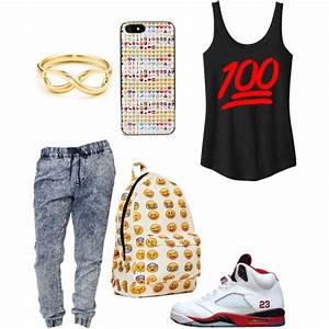 Emoji created by khanyajane on Polyvore | Girl swagg | Pinterest | Joggers My life and Created by