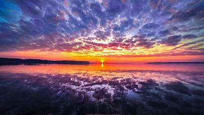 4k 5k Clouds Reflection Ultra Background Sunset