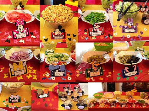 cuisine mickey mickey mouse clubhouse food table label tent cards personalized great pictures featuring