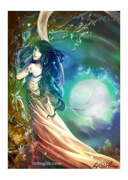 Fantasy Surreal Gifs Animated Fairy Night Moon