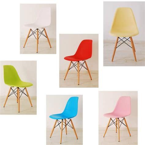 chaise pied bois assise plastique chaise eames plastique dsw pieds en bois achat vente