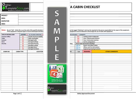 health safety forms construction templates
