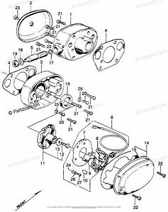 Honda Motorcycle Models With No Year Oem Parts Diagram For Cylinder Head Side Cover   Spark