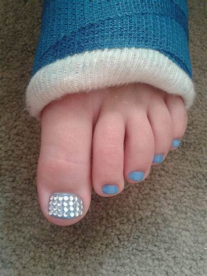 Pedicure Daughter Broken Jewelled Outer Glow