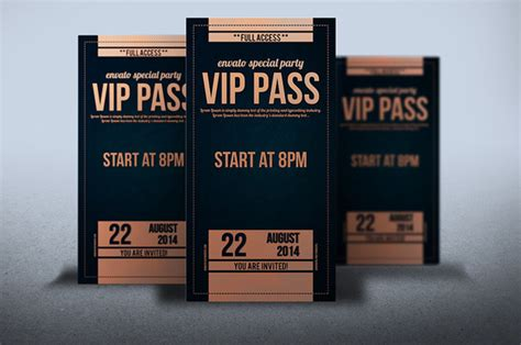 vip pass backstage pass template 187 designtube creative design content