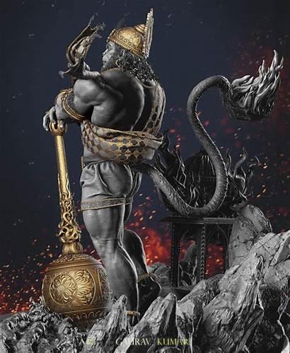 Hanuman Lord Hindu God Artstation Gaurav Gods