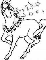 Horse Coloring Pages Horses Funny Cool sketch template