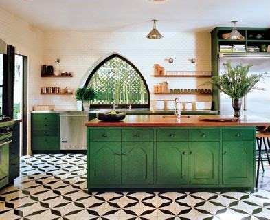 kitchen tile  cabinets emerald green base cabinets