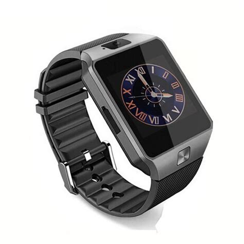 smartwatch iphone schwarz dz09 bluetooth waist smartwatch armbanduhr