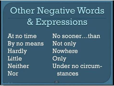yard sale grammar negative adverbs  inversion