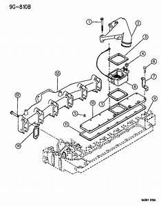 1997 Dodge Ram 2500 Cover  Intake Manifold  Cover  Intake