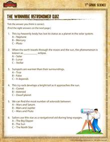 7th Grade Science Worksheets The Wannabe Astronomer Quiz View Printable 7th Grade Science Worksheets School Of Dragons