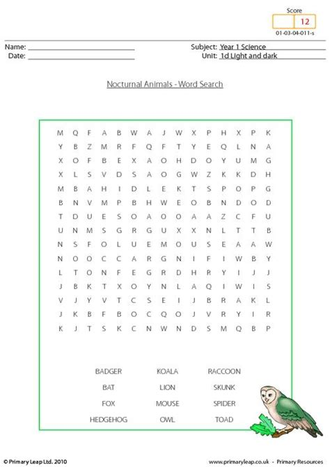 science sources  light  worksheet primaryleapcouk