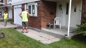 Concrete Pavers Over Concrete Slab