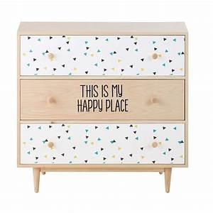 Maison Du Monde Commode : commode en bois l 83 cm graphikids maisons du monde ~ Teatrodelosmanantiales.com Idées de Décoration