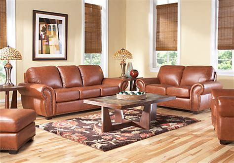 leather sofa rooms to go sky valley 7 pc leather living room leather living rooms