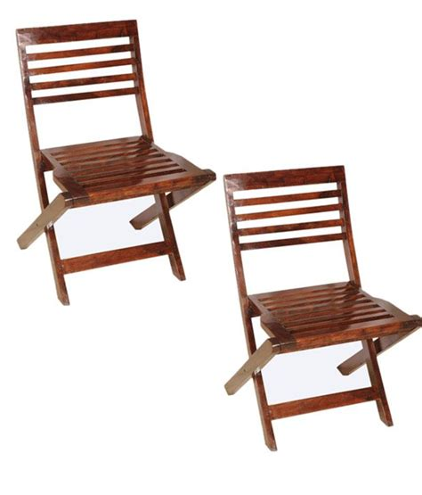 sheesham wood compact folding chairs set of 2 buy