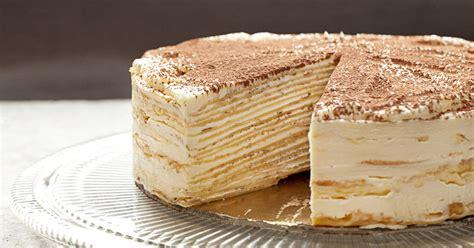video     mille crepe tiramisu cake