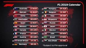 Grand Prix F1 2018 Calendrier : formula 1 ecco la bozza ufficiale del calendario 2019 confermati i 21 gp di quest anno ~ Medecine-chirurgie-esthetiques.com Avis de Voitures