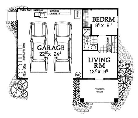 one garage apartment floor plans 10 best images about pool house on