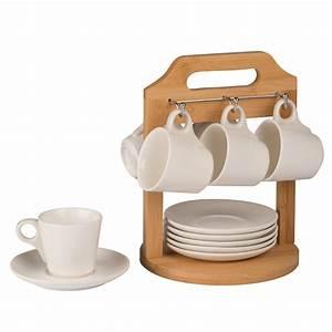 support presentoir bambou 6 soucoupes 6 tasses a cafe With delightful plan de travail maison 16 une moto les transports