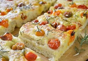 Focaccia de tomatitos cherry Recetín